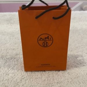 "Hermes bag 8"" tall 5.25"" wide 2.25"" deep Pristine"
